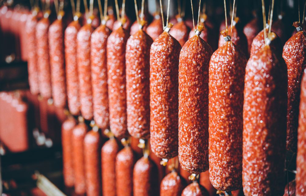 sausage meat production